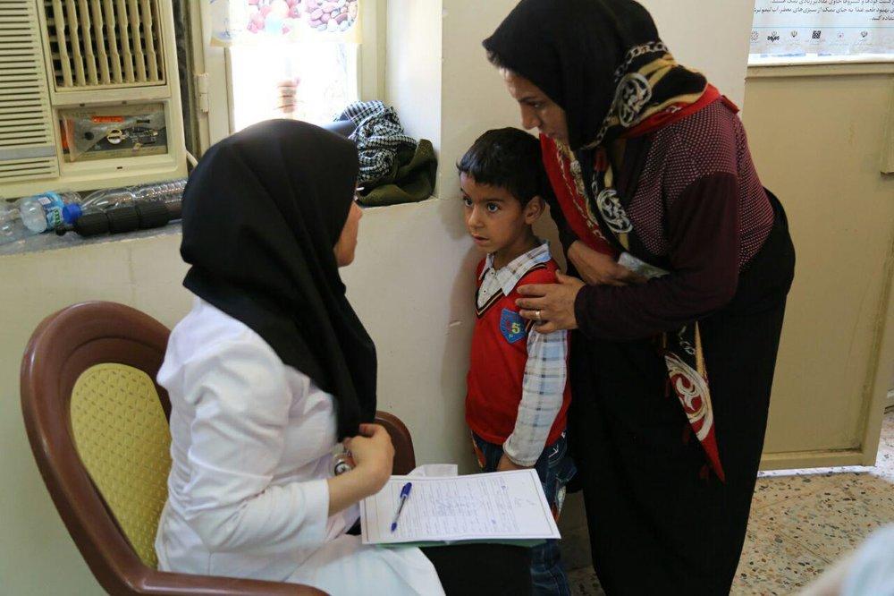 برپایی اردوی سلامت با همت گروه های جهادی