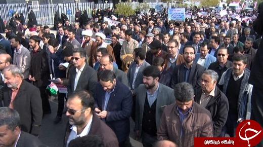 راهپیمایی باشکوه مردم در محکومیت اغتشاشگران + تصاویر و فیلم