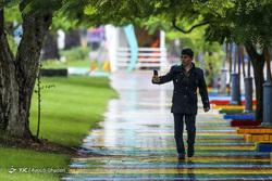 باران پاییزی در کیش