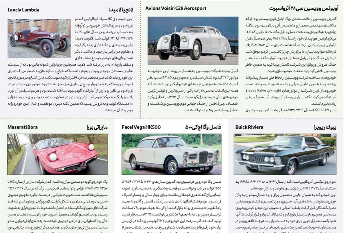 ۱۰ خودروی شگفت انگیز در لیست ۱۰۰ خودروی برتر تاریخ را بشناسید