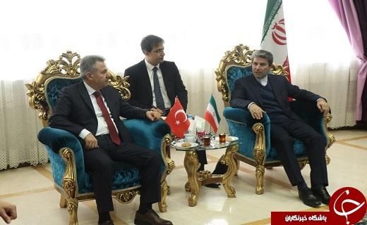 دیدار سلیمان البان والی استان آغری ترکیه با  استاندار آذربایجان غربی