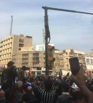نوجوان ۱۶ ساله در اغتشاشات عراق به دار آویخته شد