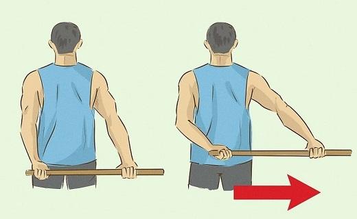 تمرین با چوب