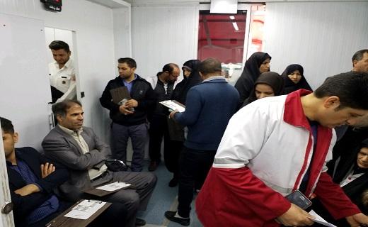 استقبال مردم آبیک از سامانه سیاراهدای خون