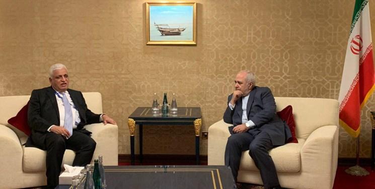 دیدار مشاور امنیت ملی عراق با ظریف در دوحه