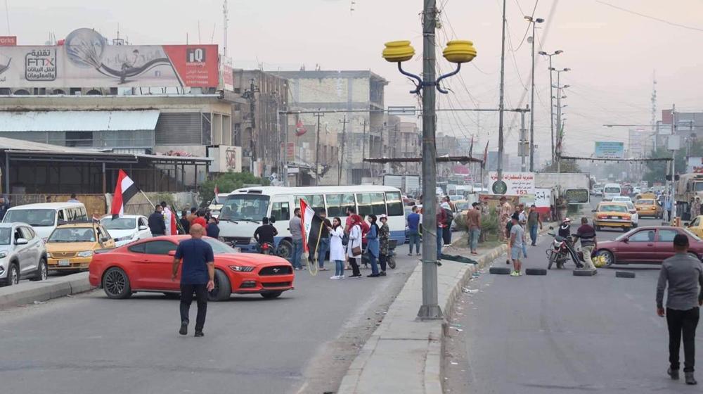 بازگشایی همه خیابانهای بغداد در پی کاهش اعتراضات