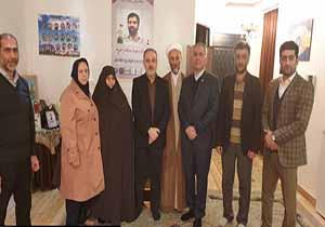 حضور هیئت کاراته گیلان در منزل خانواده شهید عطری