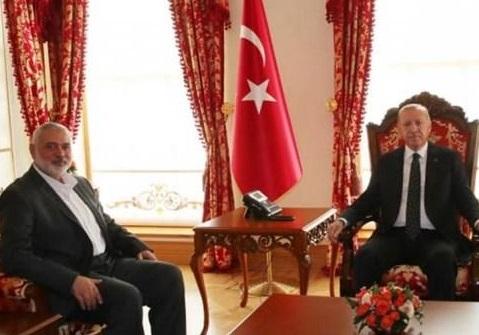 اردوغان و اسمائیل هنیه
