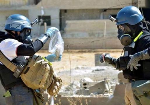نمایش حمله شیمیایی تروریستهای جبهه النصره با همکاری کلاه سفیدها + فیلم