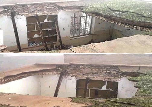 ریزش سقف دبستان روستایی در دزفول/ مسئولیت آموزش و پرورش تنها در حد آماده سازی یک کانکس