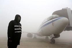 برف هواپیماهای چینی را زمینگیر کرد