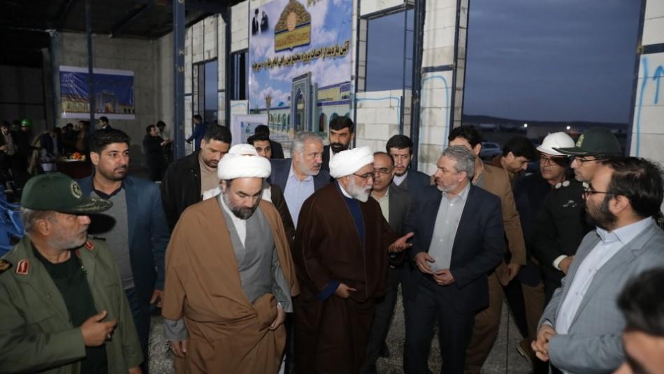 افتتاح مجتمع بین راهی امام رضا (ع) مرز میرجاوه