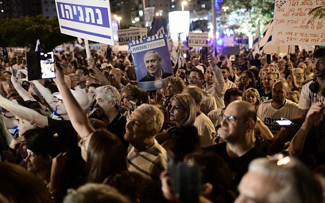 برگزاری تظاهرات در تلآویو/ تظاهرکنندگان خواستار برکناری نتانیاهو شدند+ تصاویر