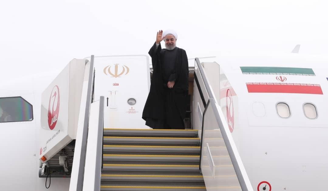 روحانی توکیو را به مقصد تهران ترک کرد