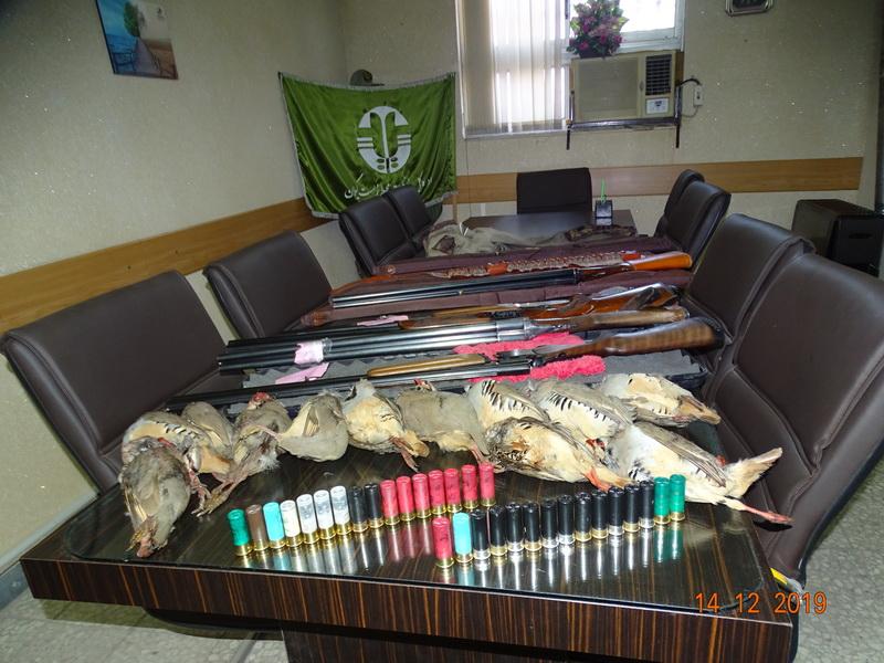 دستگیری ۵ شکارچی متخلف در عمارلوی رودبار