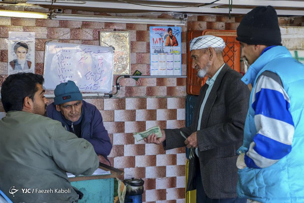 بازار خرید ماهی شب یلدا در گرگان