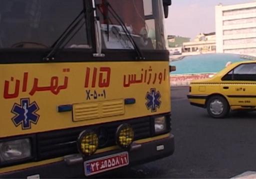 استقرار امدادگران و خودروهای اورژانس در مکانهای آلوده تهران + فیلم