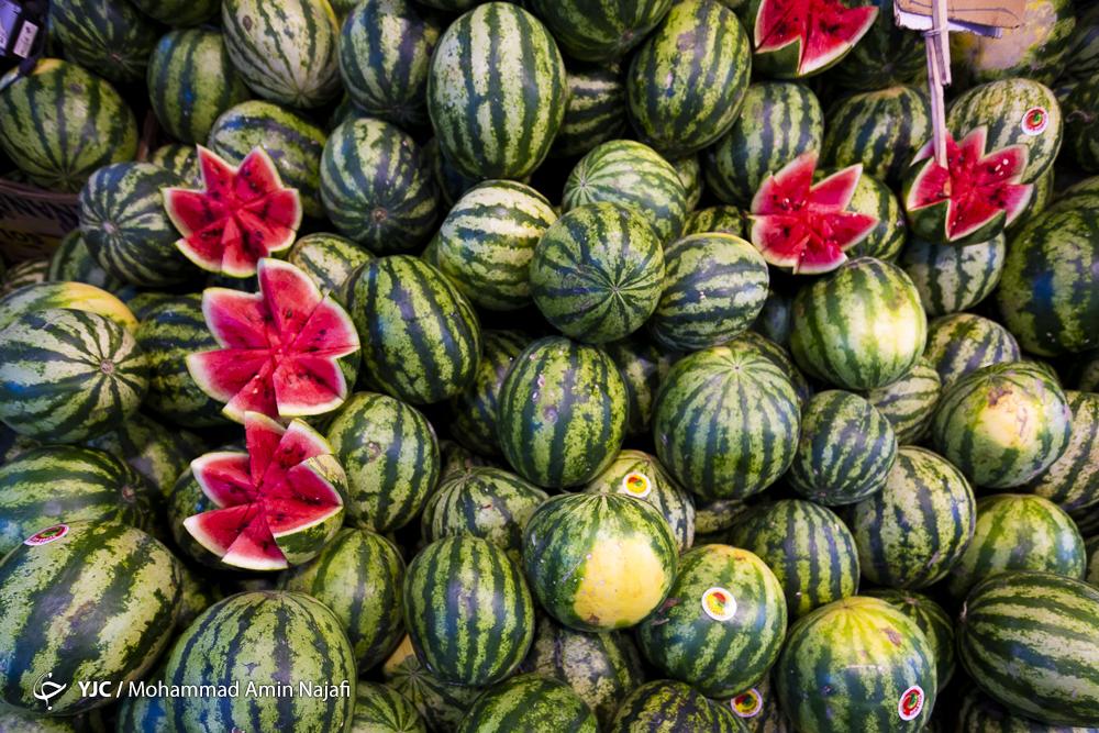 بازار میوه شب یلدا در پیچ و تاب گرانی/قیمت میوه از نردبان گرانی بالا می رود/سایه گرانی بر بازار میوه شب یلدا مشهود است
