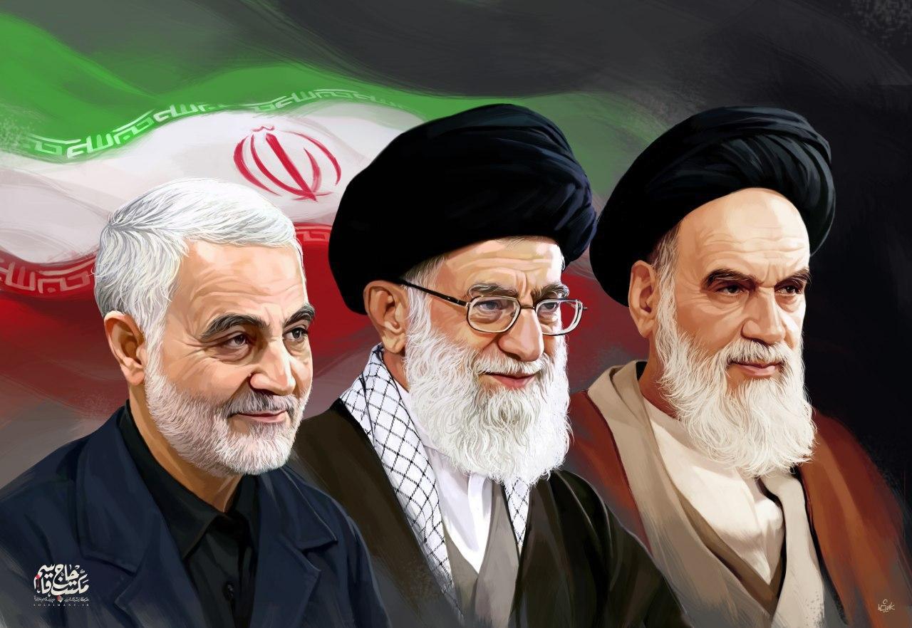 تصویر نمادین جدید و زیبای شهید سپهبد سلیمانی