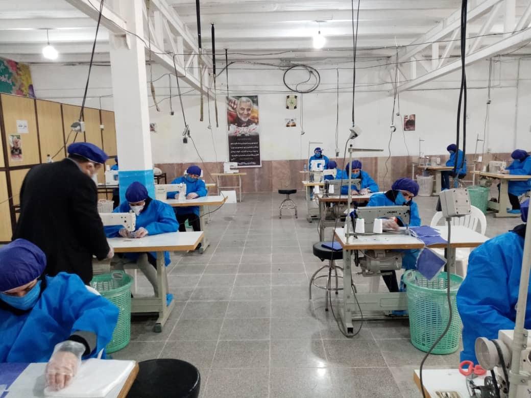 تولید روزانه ۲ هزار ماسک در کارگاه مبل و منبت ملایر