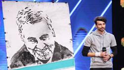 ناگفتههای شرکتکننده عصر جدید که تصویر «حاج قاسم» را نقاشی کرد/ اجرای بعد، حیثیتی و پُر ریسک است