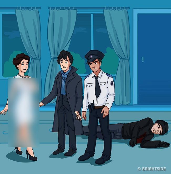 معماهای پلیسی پیچیده که  فقط افراد باهوش جواب آن را می دانند/ مجرم را پیدا کنید! + تصاویر