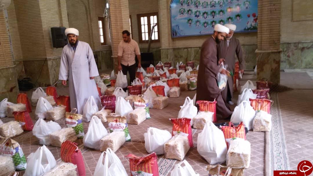 توزیع بستههای حمایتی بین خانوادههای نیازمند در کازرون