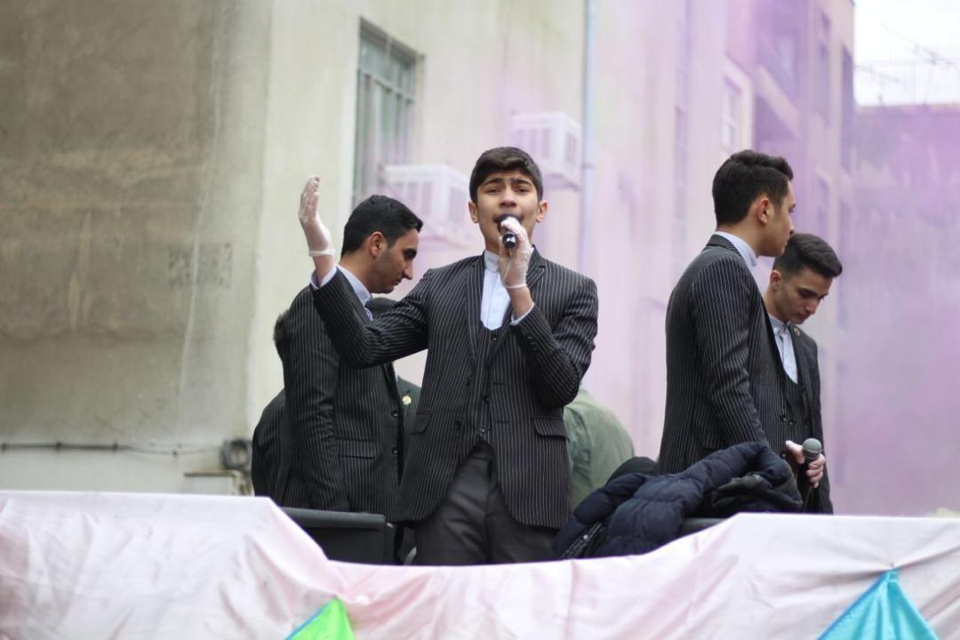 اجرای سرود گروه اسرا در روز نیمه شعبان + فیلم