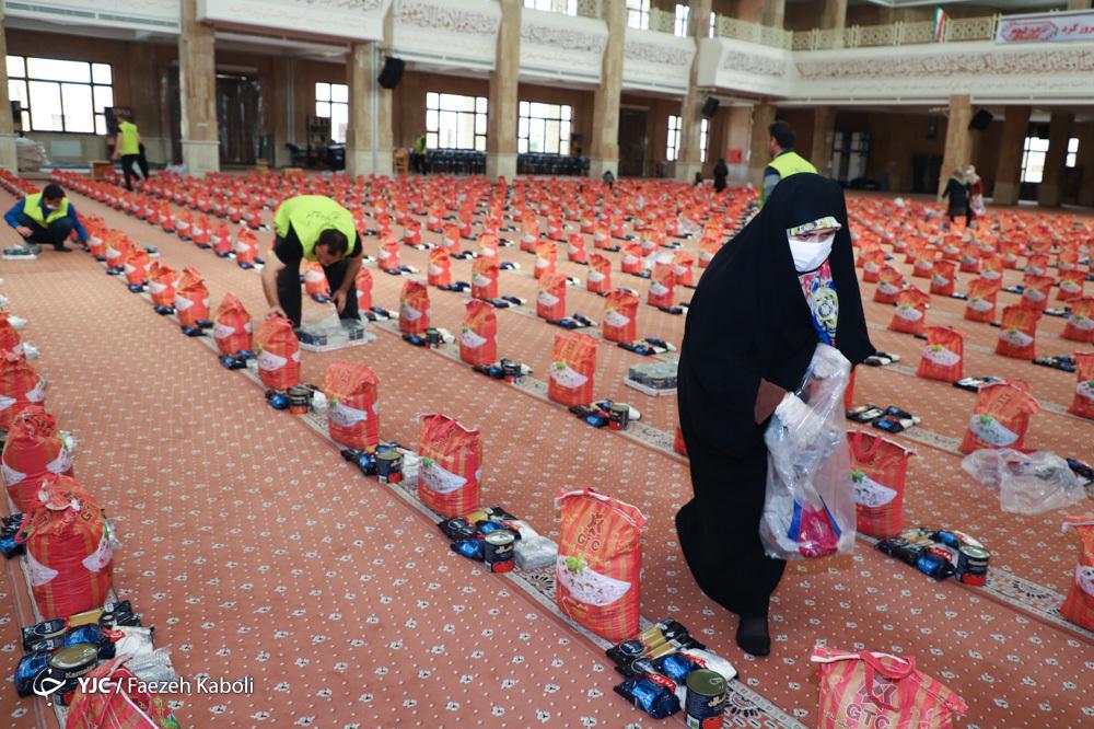 آماده سازی ۵ هزار سبد غذایی برای محرومین شهرستان گرگان به کمک مرکز نیکوکاری مصلی نماز جمعه گرگان و موکب علی بن موسی الرضا (ع) استان گلستان