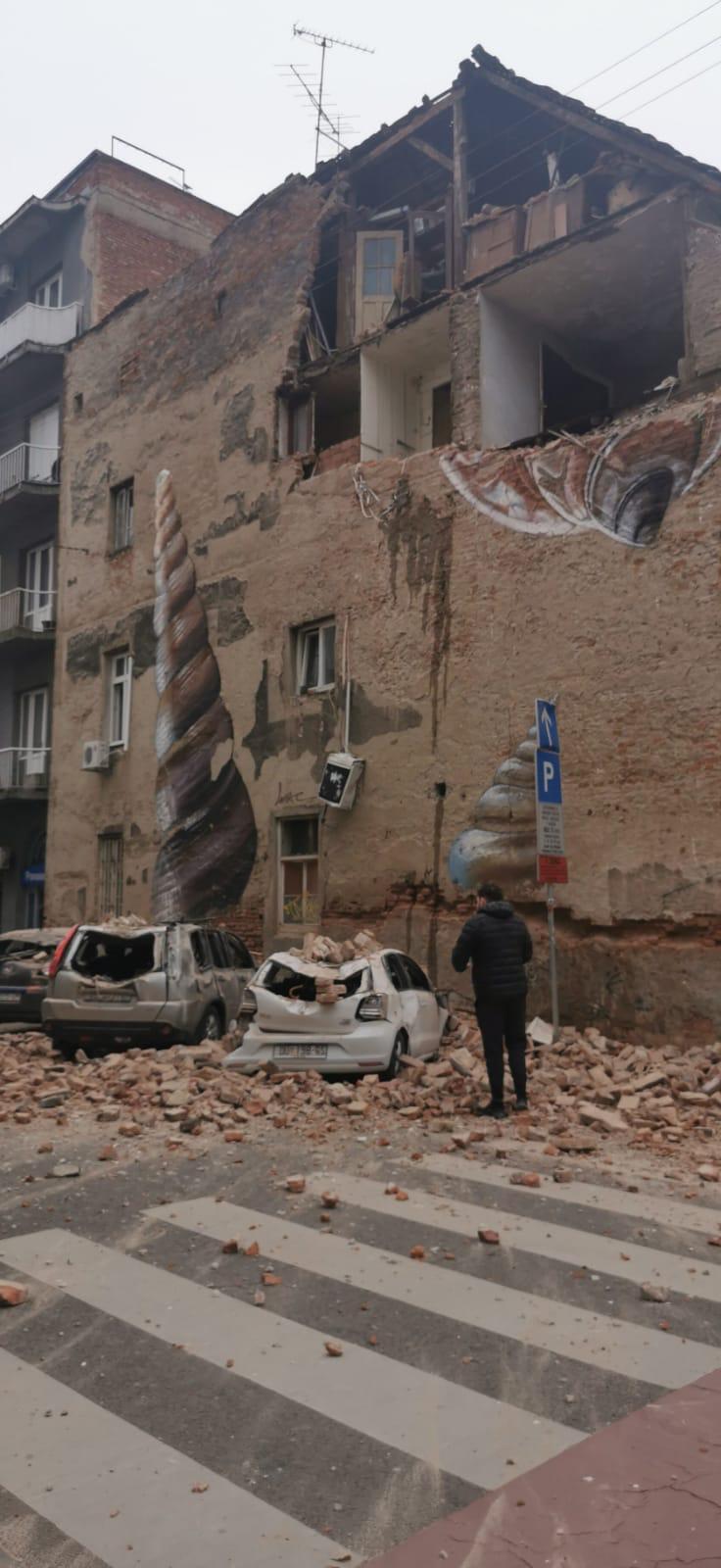 زلزلهای نسبتا شدید پایتخت کرواسی را لرزاند+ تصاویر