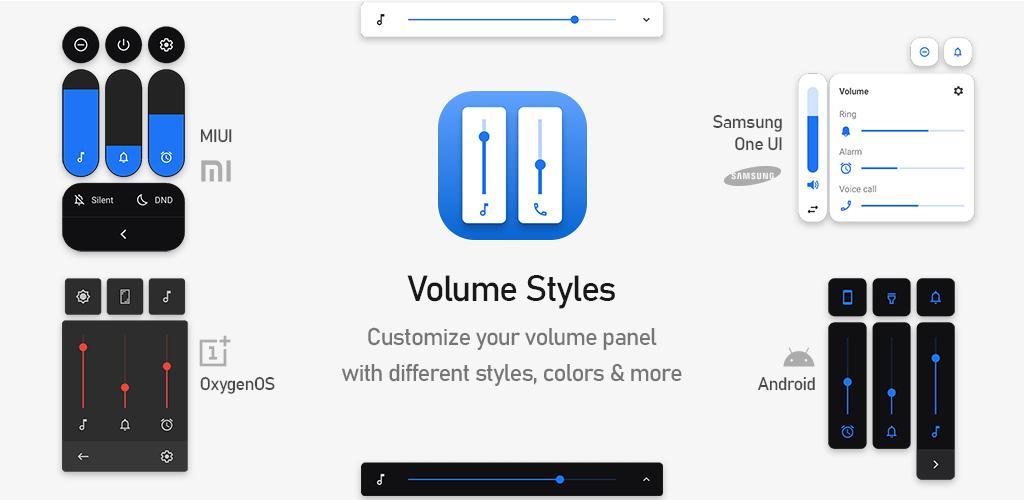 دانلود Volume Styles – Customize your Volume Panel Full 1.4.2 – اپلیکیشن شخصی سازی پنل تنظیم صدای اندروید