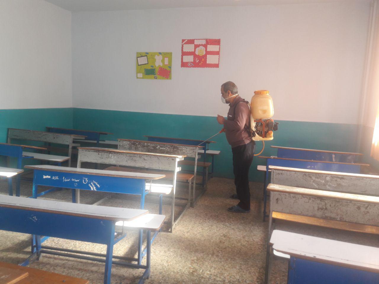 ضدعفونی بیش از ۲۰۰ مدرسه در تالش