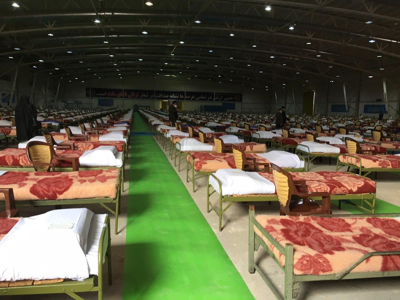 ارتش تاکنون بیش از ۶۰۰۰ تخت بیمارستانی برپا کرده است