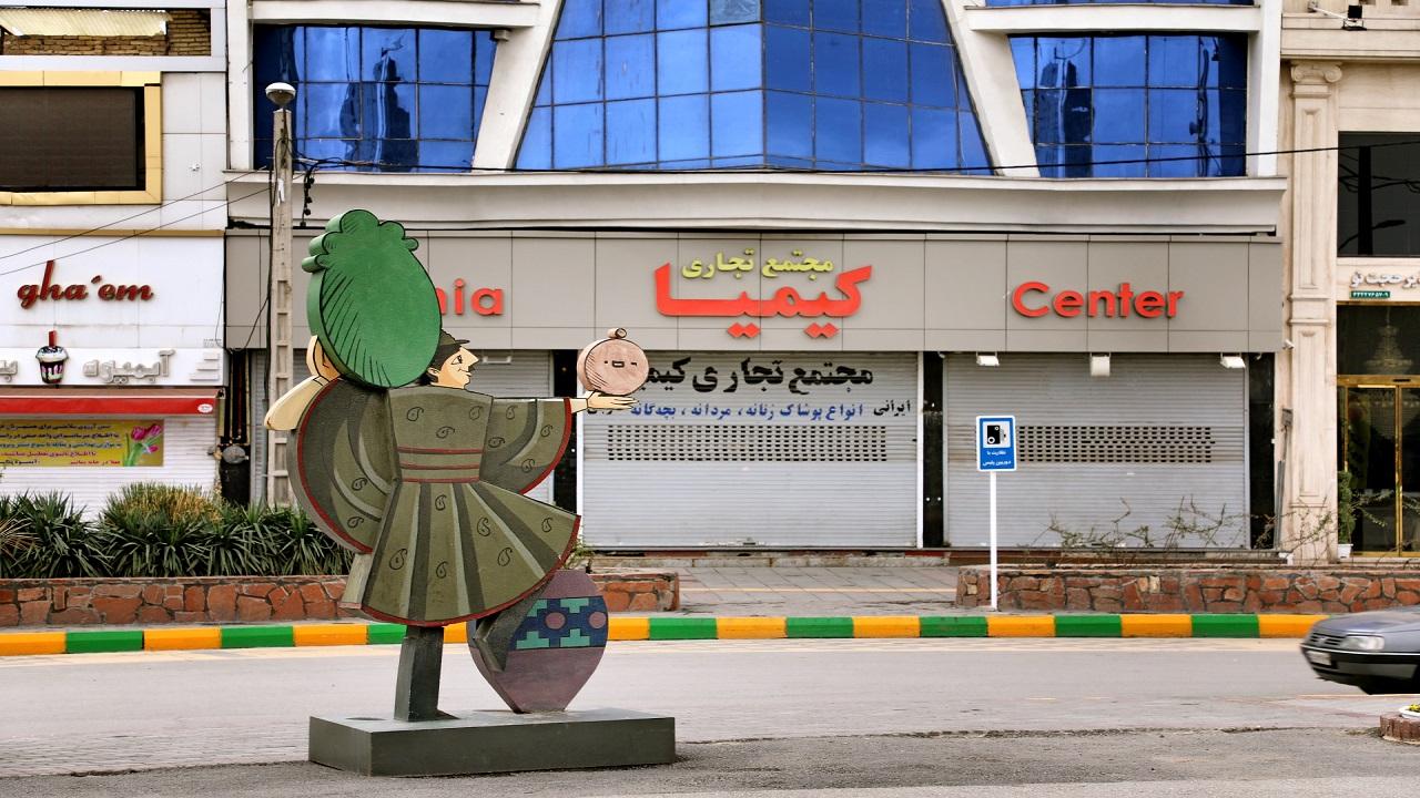 گزارش تصویری از تعطیلی واحدها و مجتمعهای تجاری میدان ۱۷ شهریور مشهد