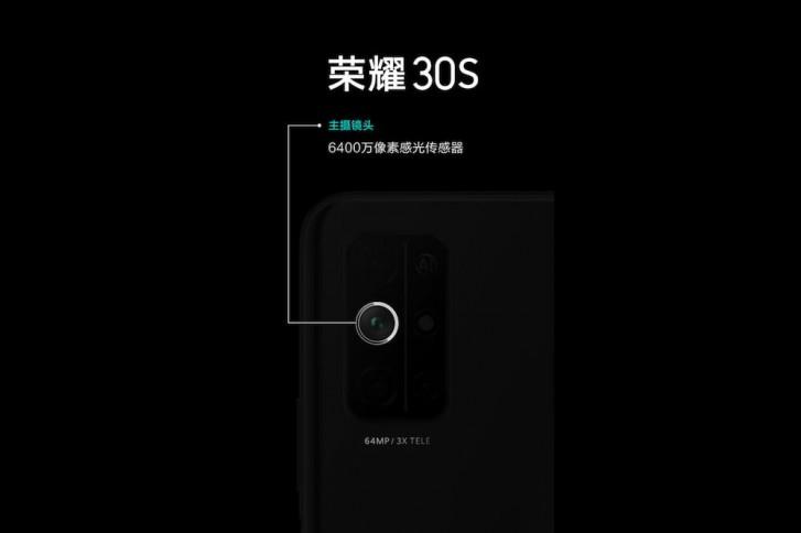 استفاده از لنز ۶۴ مگاپیکسلی به عنوان دوربین اصلی گوشی Honor 30S