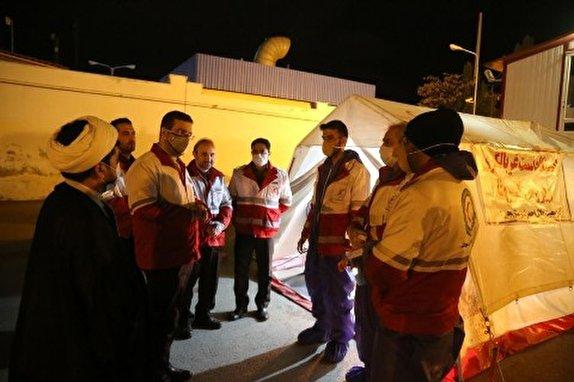 باشگاه خبرنگاران -بازدید رئیس سازمان داوطلبان جمعیت هلال احمر از ایستگاه بازرسی سلامت