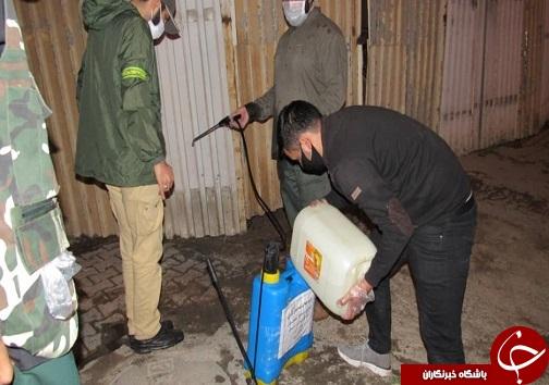 ضدعفونی خیابانهای اهواز با کمک گروههای جهادی