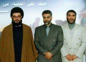 تصویری قدیمی از حضور دو یار قدیمی در کنار دبیرکل حزب الله