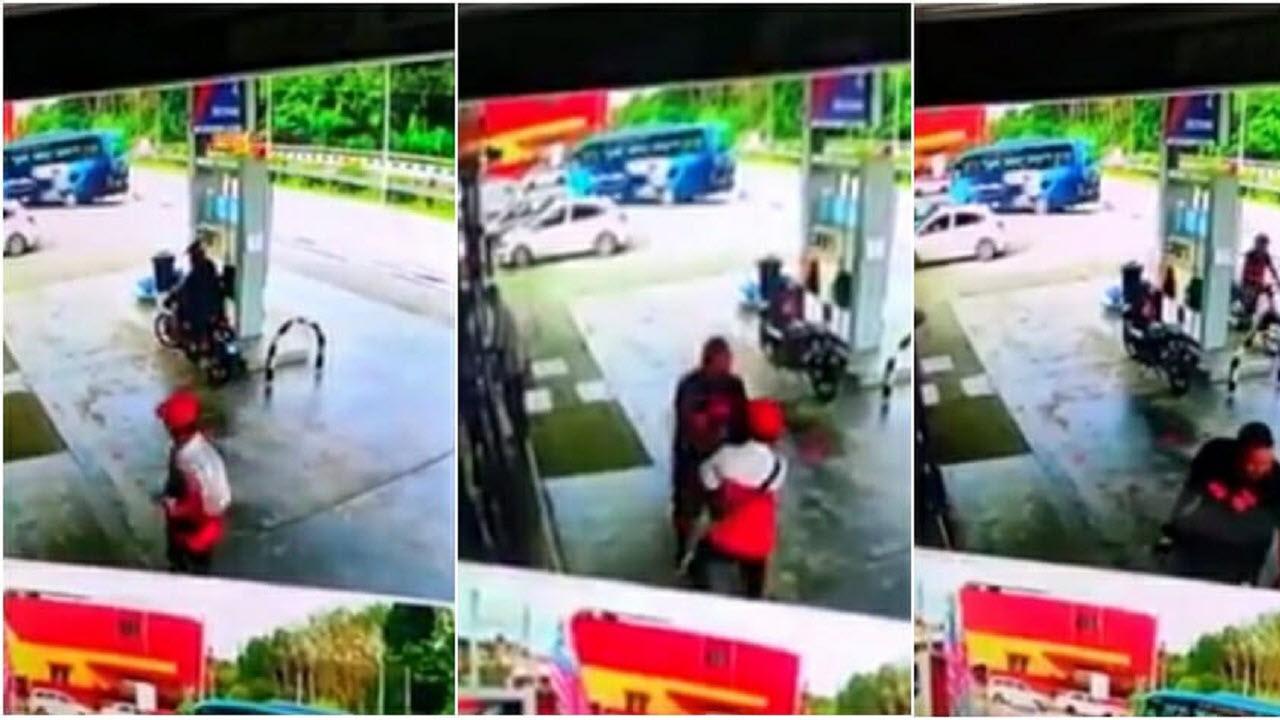 اقدام غیراخلاقی راننده در پمپ بنزین!