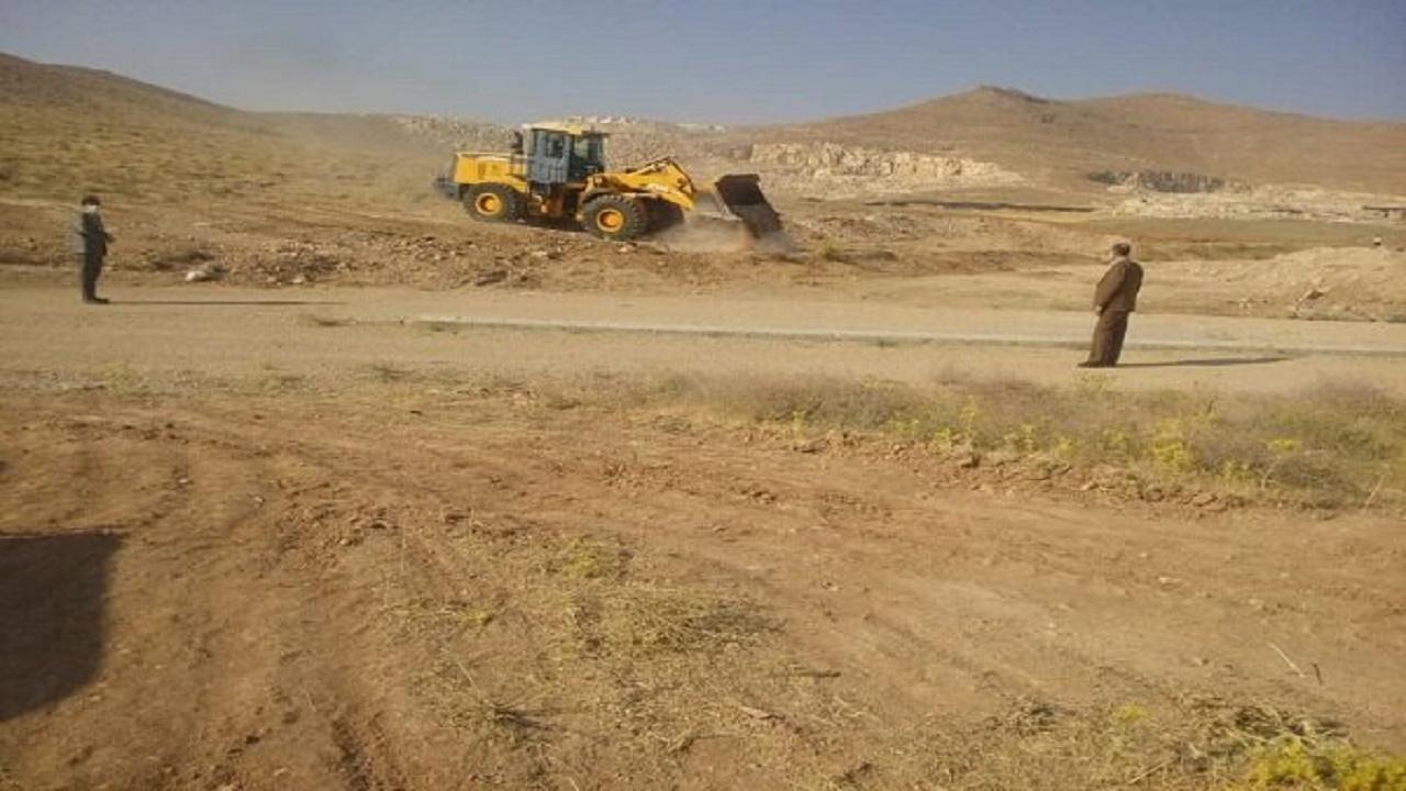 رفع تصرف بیش از یک هزار هکتار از اراضی ملی همدان