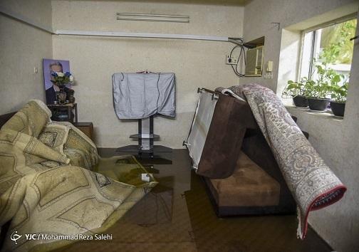 نفوذ آب به منازل مردم پس از بارندگی در خوزستان