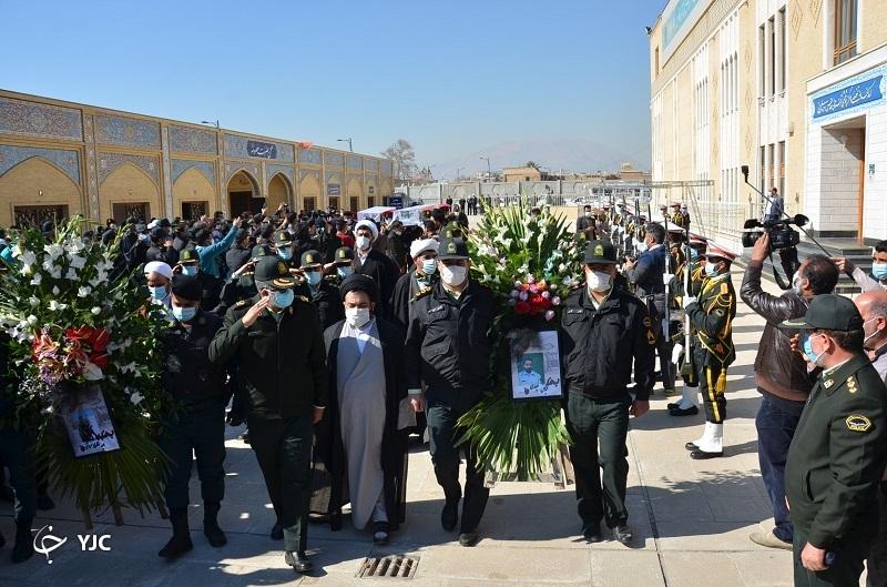 تشییع دو شهید نیروی انتظامی در شیراز