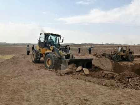 توقیف تراکتور های حفاری غیر مجاز در شهرستان رزن