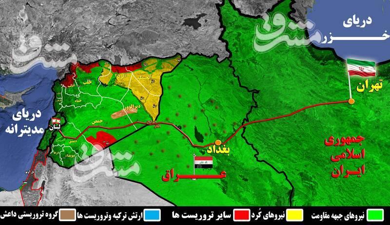 شارژ عناصر مخفی داعش با دلارها و تسلیحات آمریکایی برای قطع جاده راهبردی «تهران - مدیترانه»