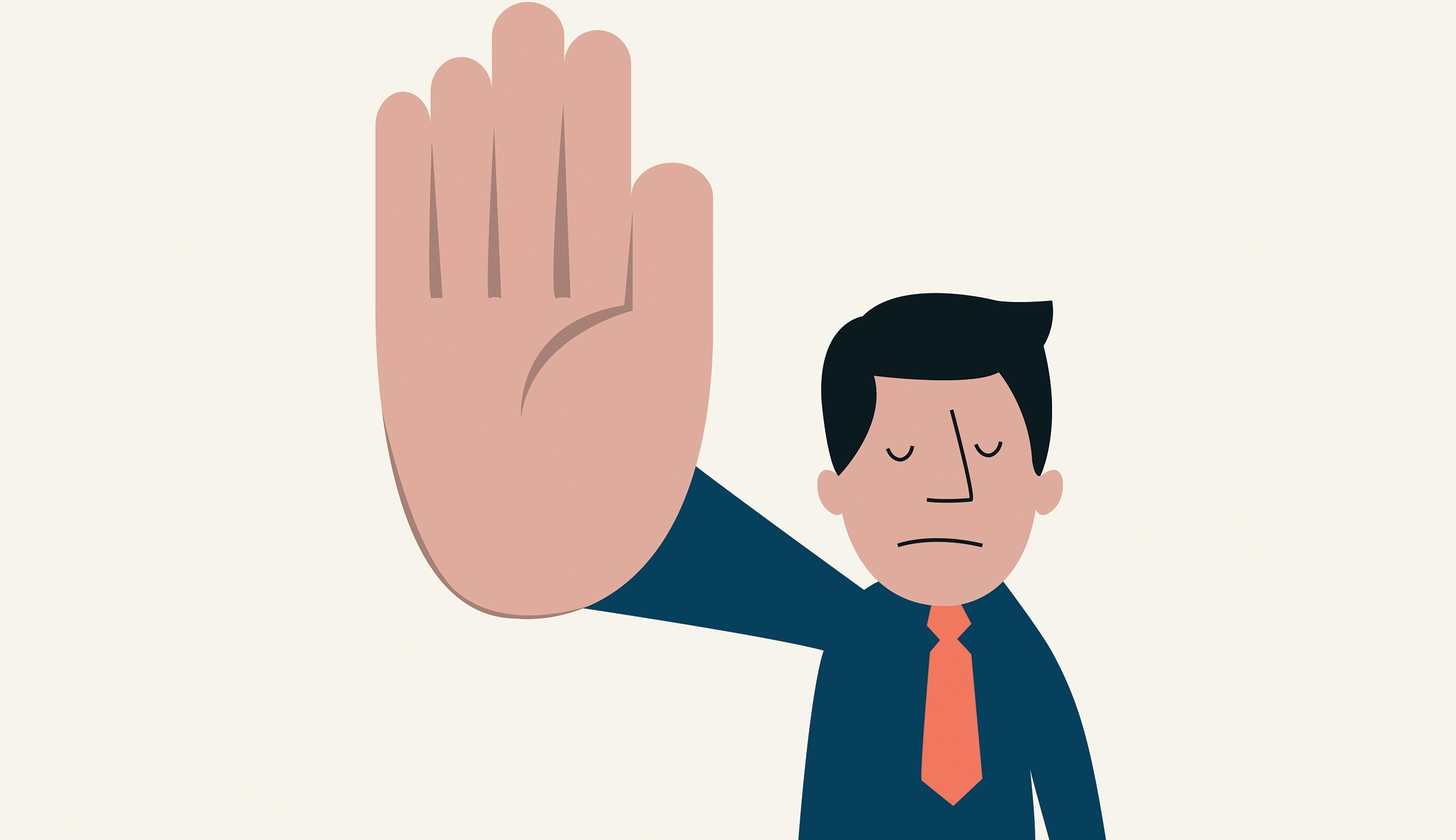 چگونه مؤدبانه و حرفهای نه بگوییم؟
