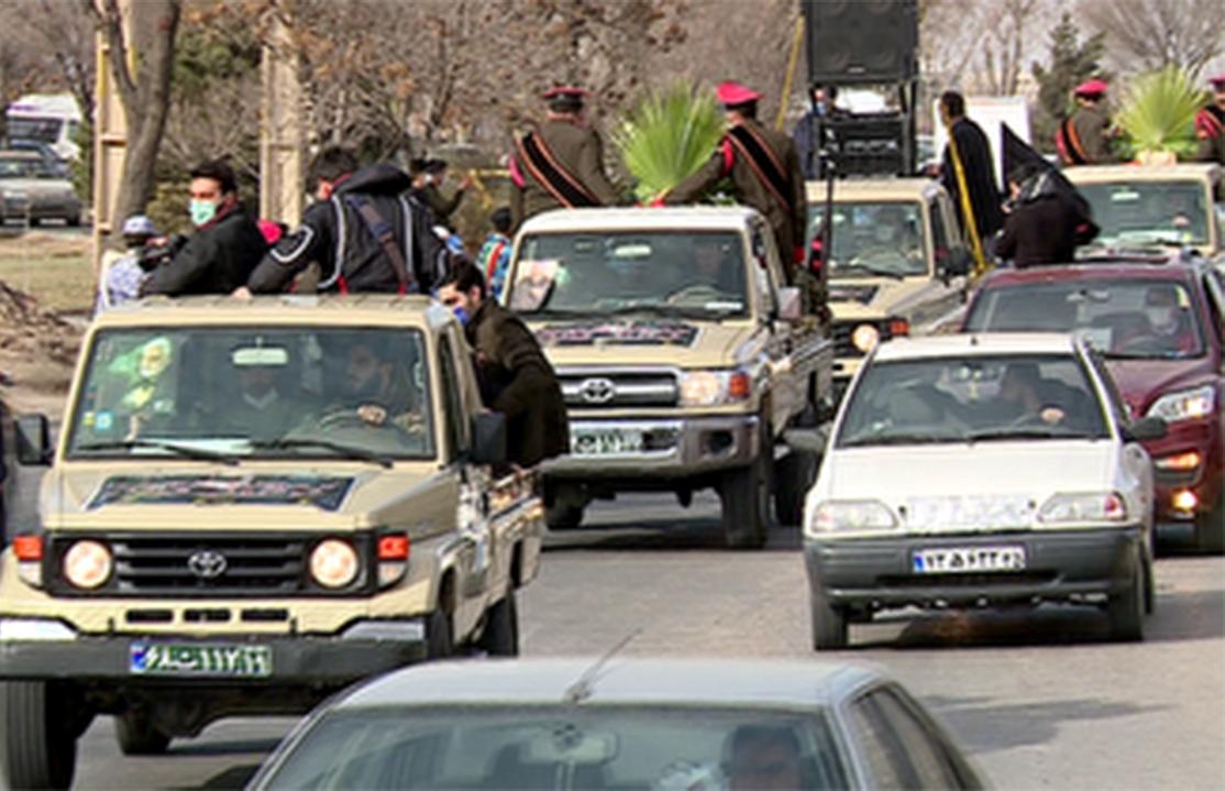 استقبال از پیکرهای مطهر ۴ شهید دفاع مقدس در تبریز