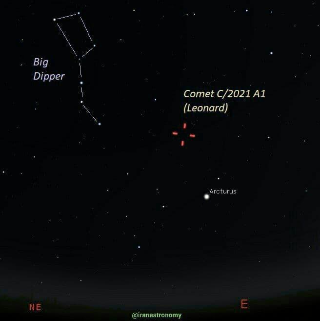 در حال تکمیل///درخشانترین دنباله دار سال ۲۰۲۱ کشف شد/درخشانترین دنباله دار سال ۱۴۰۰ کشف شد
