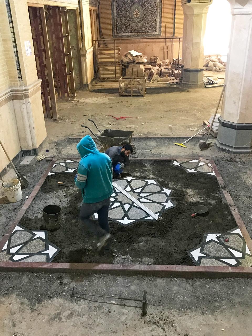 اتمام پروژه صحن حضرت زهرا (س) در ایام کرونایی