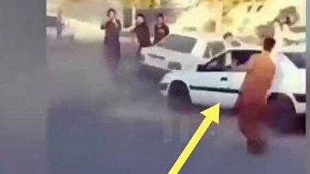 وقوع حادثه حین اجرای حرکات نمایشی با خودرو در زاهدان + فیلم