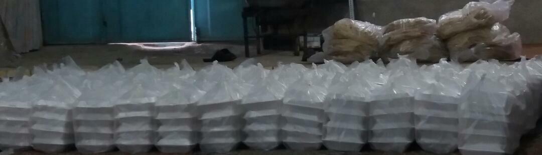 توزیع ۸۰۰ پرس غذای گرم میان نیازمندان هفتکل